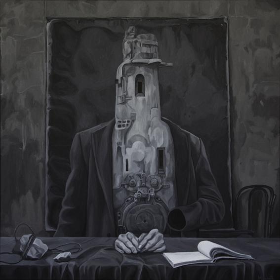 Surreal, Figural, Malerei, Portrait, Acrylmalerei