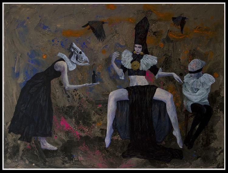 Portrait, Apokalypse, Figural, Tod, Malerei, Düster