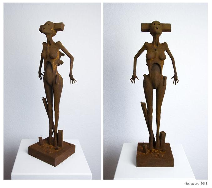 Surreal, Figural, Rost, Skulptur, Plastik