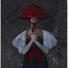 Acrylmalerei, Tracht, Portrait, Dunkel