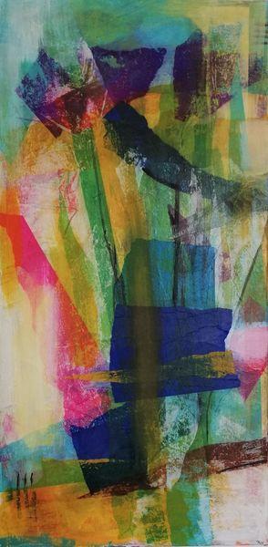 Informel, Komposition, Vertikal, Malerei