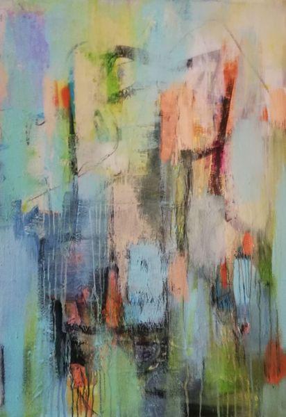Komposition, Vertikal, Informel, Malerei