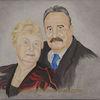 Ölmalerei, Eltern, Weimar, Portrait