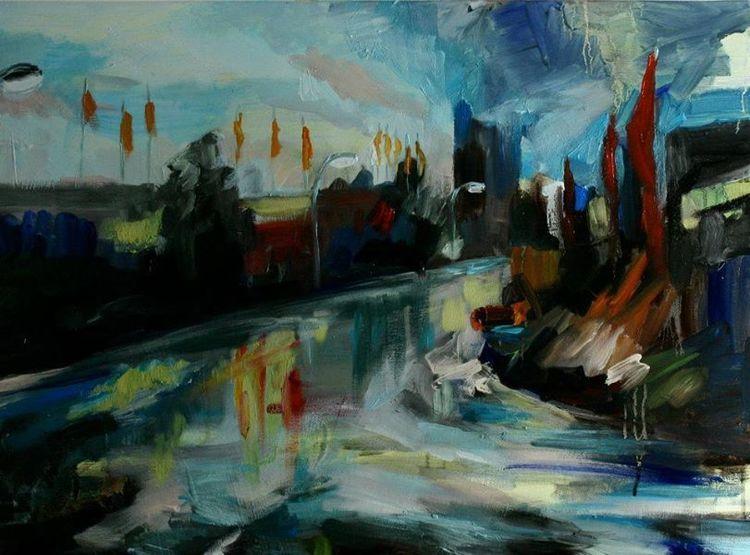 Spiegelung, Industrie, Kontrast, Acrylmalerei, Para, Gewerbe