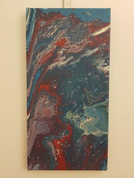 Acrylmalerei, Fluid technik, Abstrakt, Malerei