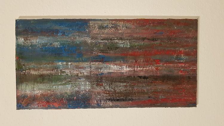 Blau, Acrylmalerei, Technik, Malerei