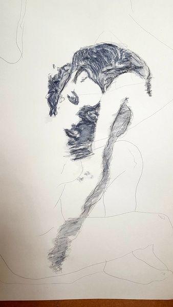 Zeichnung, Abstrakt, Mischtechnik, Zeichnungen, Menschen