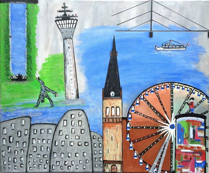 Collage, Düsseldorf, Acrylmalerei, Malerei