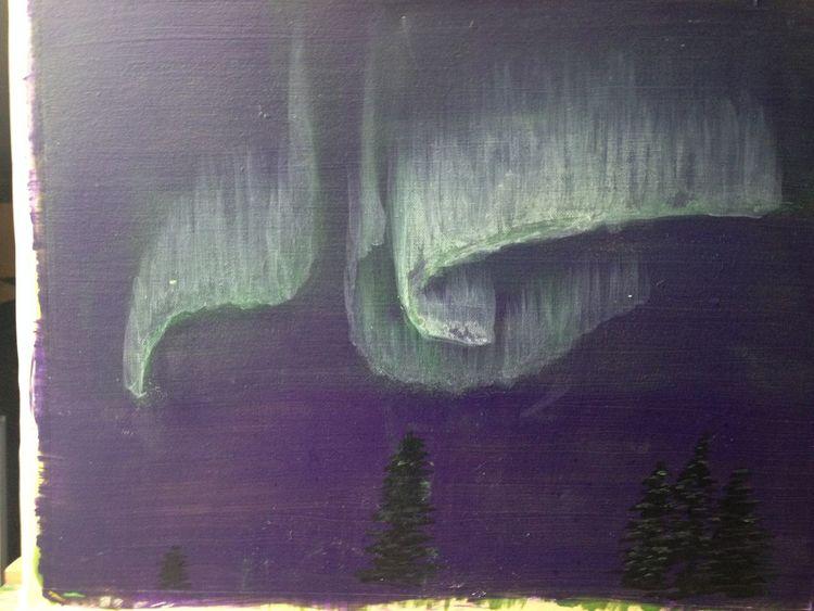 Malerei, Landschaft, Acrylmalerei, Northern,