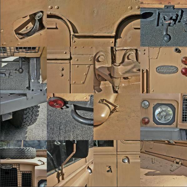 Beige, Oldtimer, Auto, Blech, Collage, Fotografie