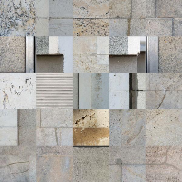 Fassade, Gesicht, Berlin, Collage, Putz, Fotografie