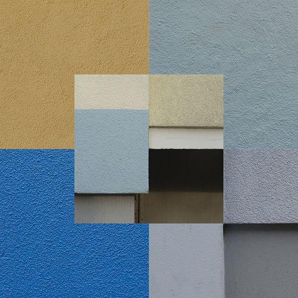 Bunt, Collage, Berlin, Quadrat, Putz, Farben