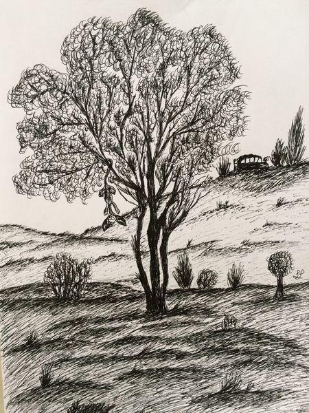 Landschaft tinte natur, Zeichnungen