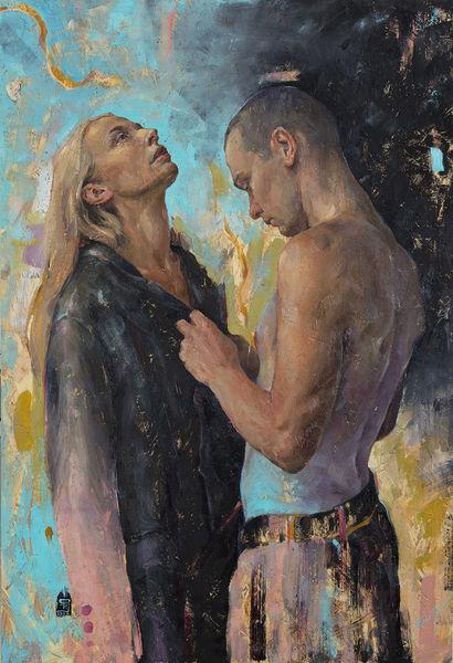 Frau, Figural, Jung, Realismus, Mädchen, Ölmalerei
