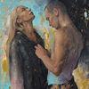 Mädchen, Ölmalerei, Kunstwerk, Jüngling
