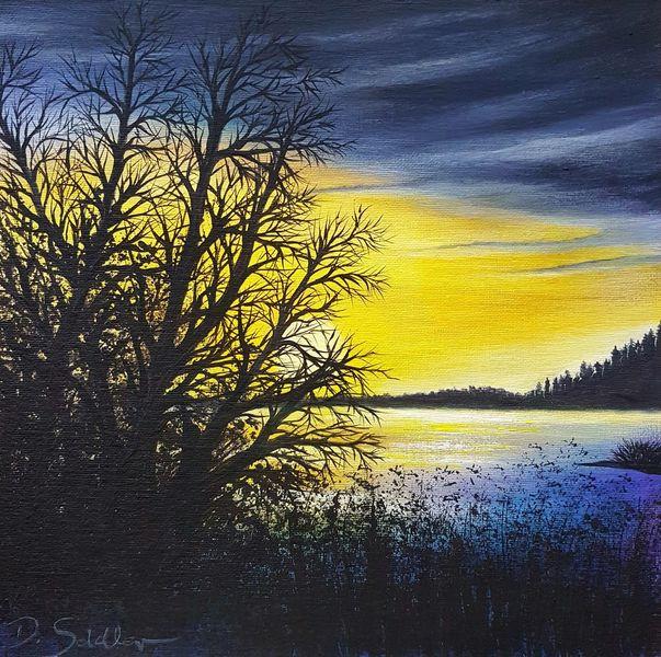 Abendstimmung, Himmel, Malerei