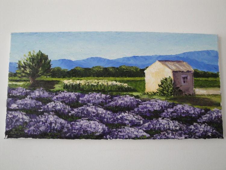 Frankreich, Lavendel, Hütte, Sommer, Malerei