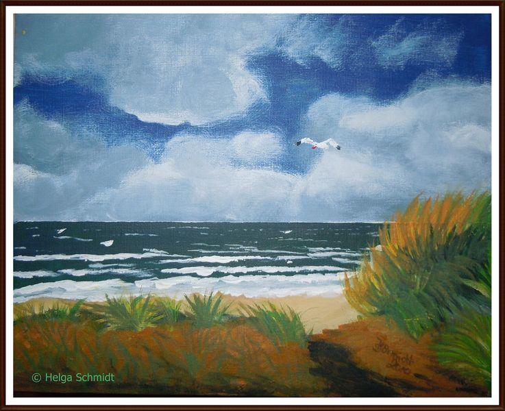 Wasser, Meer, Acrylmalerei, Landschaft, Malerei