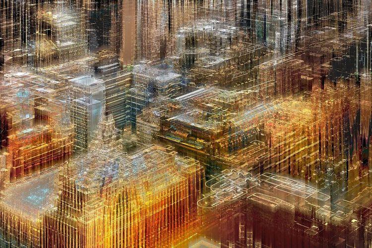 Lampda druck, Kapstadt, Digitale kunst, Stadt,