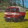 Fahrzeug, Baum, Blau, Feuerwehr