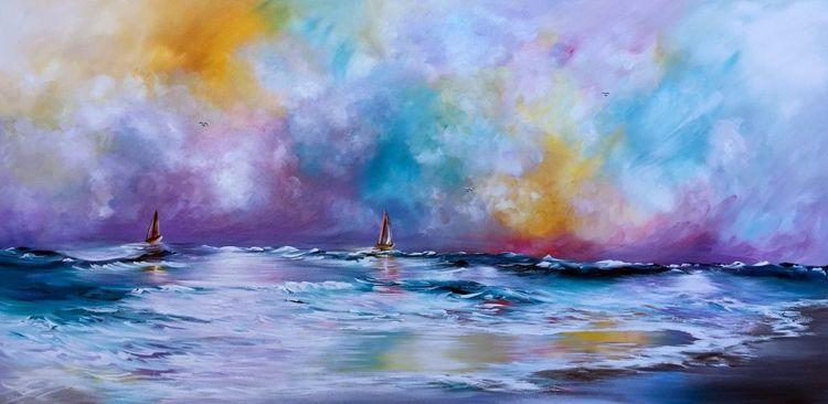 Atlantis, Fantasie, Blau, 3d, Orion, Malerei