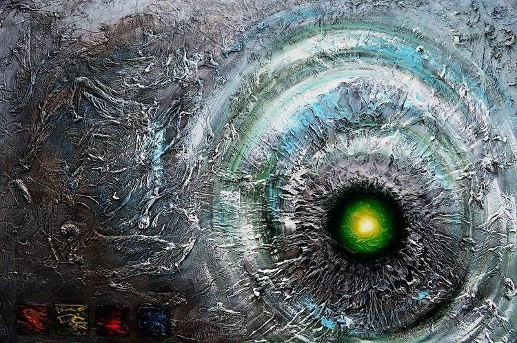 Gemälde, Surreal, Acrylmalerei, Abstrakt, Supernova, Fantasie