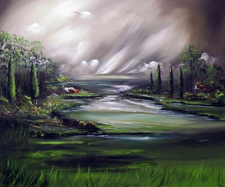 Natur, Untouched, Schön, Fantasie, Malerei