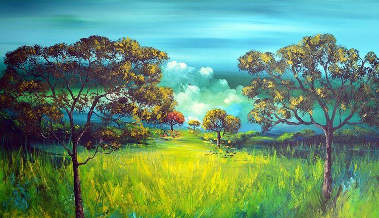 Wonderfulnature, Abstrakt, Natur, Fantasie, Landschaft, Gemälde