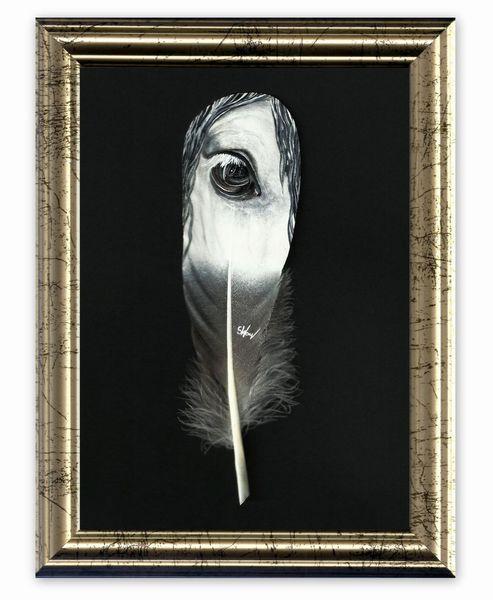 Augen, Feder, Acrylmalerei, Malerei, Pastellmalerei, Pferde