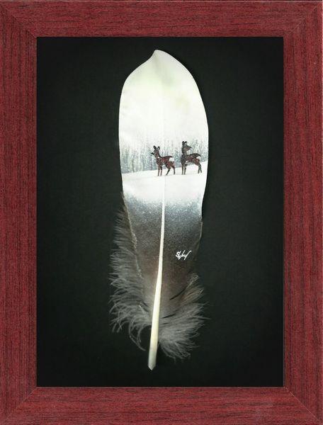Holz, Winter, Reh, Braun, Feder, Natur