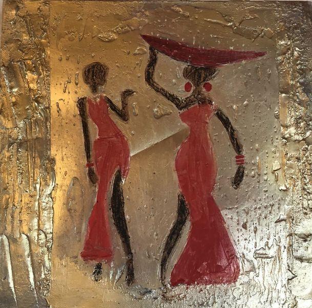 Acrylmalerei, Mischtechnik, Afrika,
