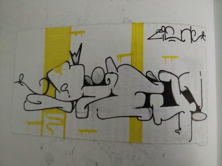 bild zieh graffiti mischtechnik comic von bivi bei. Black Bedroom Furniture Sets. Home Design Ideas