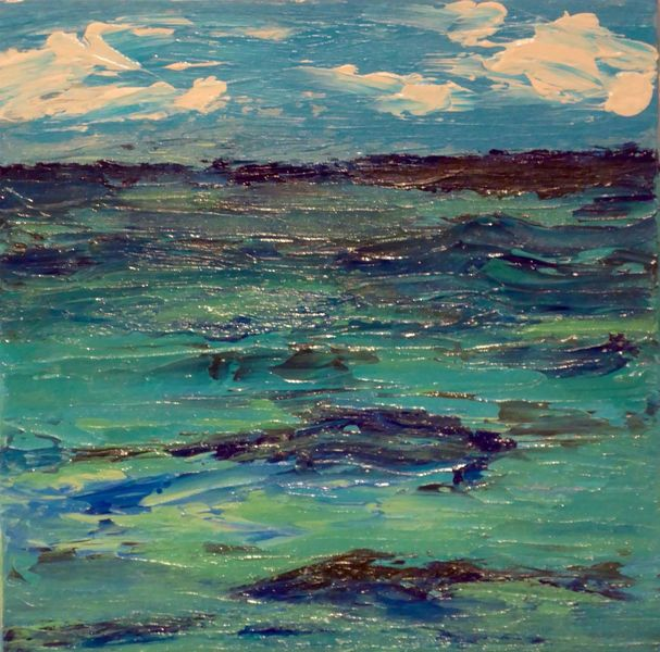 Acrylmalerei, Meer, Wasser, Malerei