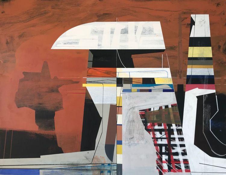 Technologie, Futurismus, Acrylmalerei, Avantgarde, Zeitgenössisch, Metaphysisch