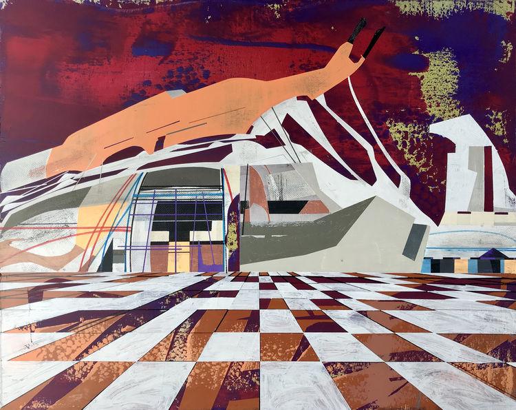 Futurismus, Stern, Acrylmalerei, Technik, Luft, Zeitgenössisch