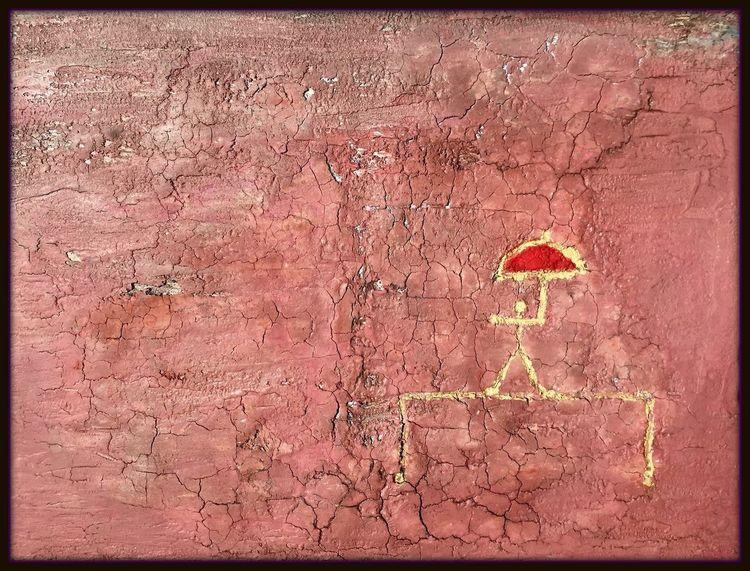 Schirmhalter, Zeichnung, Abstrakt, Meer, Figural, Malerei