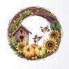 Kürbisse, Herbst, Pflanzen, Aquarell