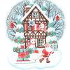Schnee, Illustration, Frohe weihnachten, Winter illustration