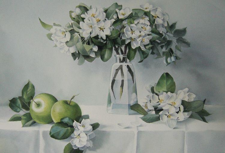 Blumen, Frühling, Natur, Apfel, Sommer, Aquarell