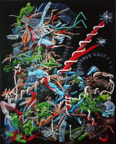 Ölmalerei, Abstrakt, Chaos, Komplexität, Malerei,