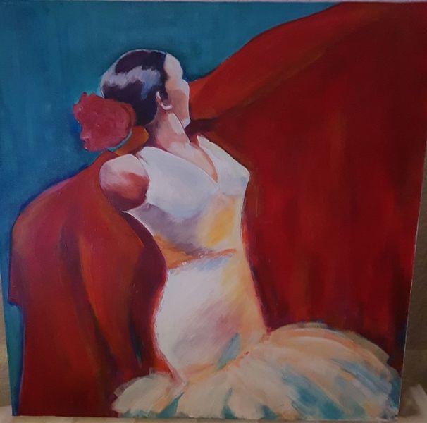 Menschen, Tanz, Acrylmalerei, Bunt, Figur, Frau