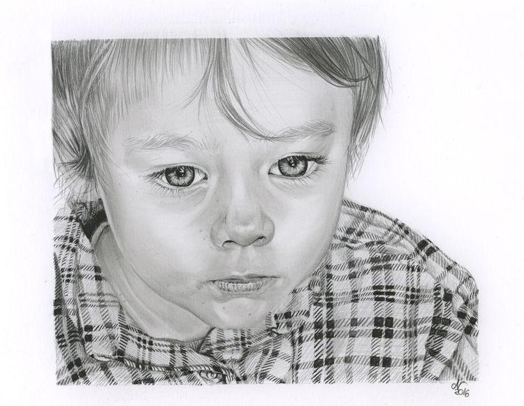 Blick, Zeichnung, Hemd, Textur, Realismus, Kind