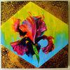 Rot, Irises, Malerei, Ölmalerei