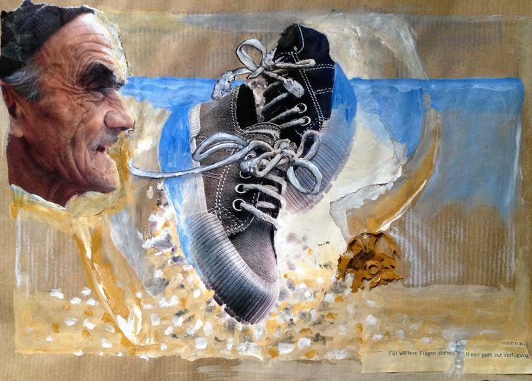 Acrylmalerei, Abstrakt, Kombinierte kunst, Fotografie, Geben, Eu