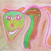 Zeichnung, Pastellmalerei, Natur, Bunt