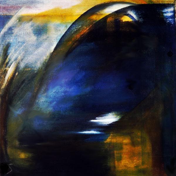 Expressionismus, Meditation, Malerei, Acrylmalerei, Ruhig, Blau