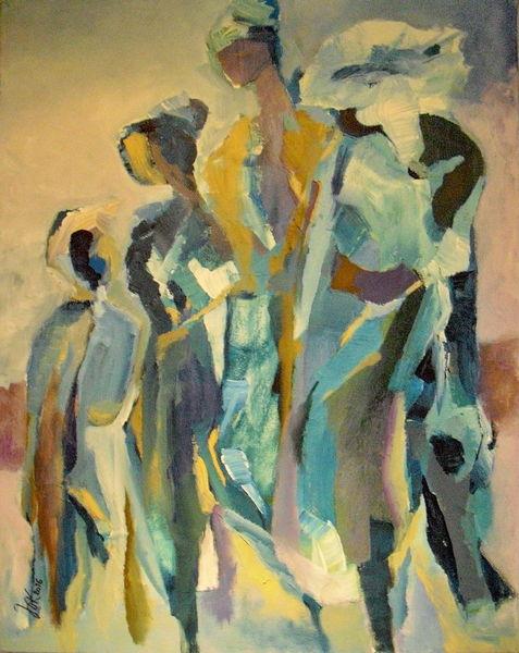 Menschen, Bewegung, Rückblick, Malerei