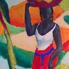 Farben, Afrika, Figur, Malerei