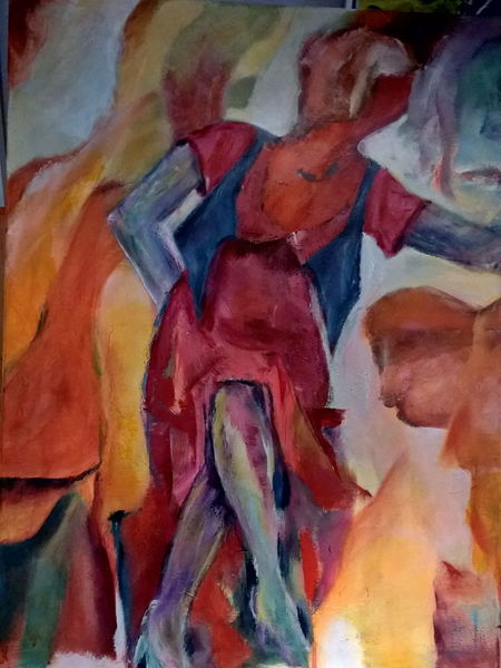Acrylmalerei, Menschen, Abstrakt, 2015, Malerei, Show