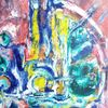 Bunt, Blau, Gelb, Malerei
